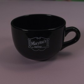 24 oz. Super Black Ceramic Mug