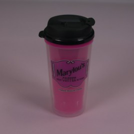 16 oz. Pink Travel Mug