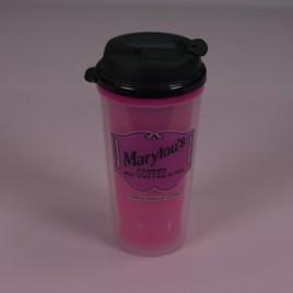 16 oz. Pink Travel Mug