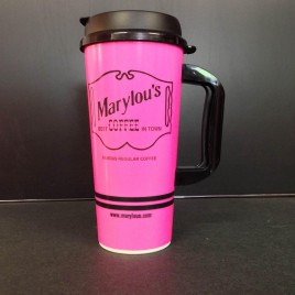 24 oz. Pink Travel Mug