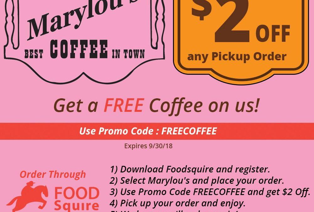 Order Your Marylou's Through FoodSquire